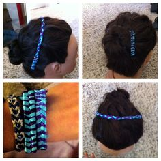 Head band/bracelet/hair accessory all in one, made with the My Ribbon Barrette Maker