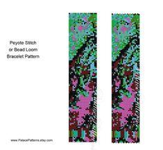 Van Gogh Inspired Bracelet Pattern  Peyote by PalacePatterns