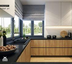 Kitchen Room Design, Kitchen Cabinet Design, Living Room Kitchen, Kitchen Layout, Kitchen Storage, Kitchen Furniture, Furniture Design, Küchen Design, House Design