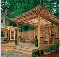 Back porch/deck idea