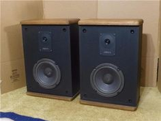Advent Baby II Speaker System 2 Way Bookshelf speaker system Woofers Work great These speakers will be shipped to 48 lower States only No P. Bookshelf Speakers, Stereo Speakers, Audio Design, Speaker System, Advent, Shape, Electronics, Rock, Baby