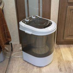 Small Washing Machine, Portable Washing Machine, Washing Machines, Hand Washing, Camper Hacks, Diy Camper, Rv Hacks, Portable Washer And Dryer, Mini Washer And Dryer