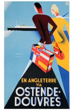 Reprint of a Vintage French Travel Poster by VPCompany on Etsy