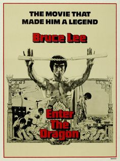 Bruce Lee Enter the Dragon Vintage Movie Film Poster Art Print (MSP 44) | eBay