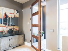 2017 HGTV Smart Home tour. Love this modern southwestern decor in this tech smart home to make your living spaces a breeze. Hgtv Smart Home 2017, Home Wet Bar, Home Tech, Southwestern Decorating, Room Pictures, Office Pictures, Built In Bookcase, Great Rooms, Home Office