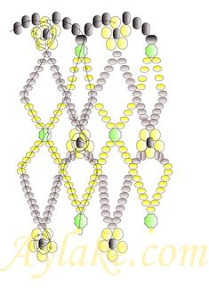 "Jewelry making with beads is addictive! Learn how to make jewelry with free instructions, projects and ideas. Discover new beading techniques today! Pattern for beaded necklace ""Fiori"""