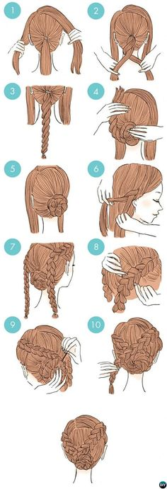 Side Braid Twisted Bun Hairstyle-20 Easy Busy Morning Hairstyles For Short Mid Long-Length Hairs