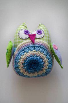 Cute owl Soft owl toy Handmade owl Little by NatalyaCraftsAndArts