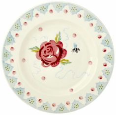 """6 """" plate rose ..exclusive for holland. www.byhedges.nl"""