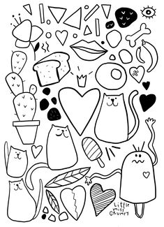 Coloring Pages, Colouring, Little Miss, Illustration Art, Illustrations, Projects To Try, Doodles, Watercolor, Drawings
