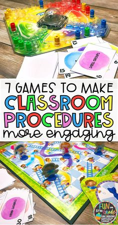 Classroom procedure review can be boring. Make it fun by using these games to practice and review. Free game included for you to use in small groups.
