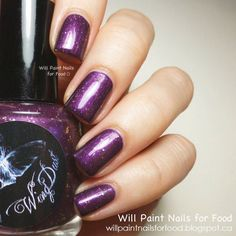 Plum Outta Ideas is a deep purple with gold shimmer, holo gold and purple and fuschia glitters. MEMBER - Wing Dust Collections