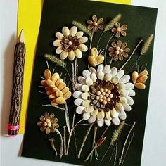 Pistachio Shells, Shell Crafts, Hair Accessories, Beautiful, Craft, Wood Wall Art, Shells, Manualidades, Pistachio Shell