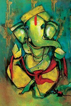Ads Art Poster Wall decorative and Personalise Greeting cards Ganesha Drawing, Lord Ganesha Paintings, Ganesha Art, Krishna Painting, Krishna Art, Ganpati Drawing, Budha Painting, Indian Folk Art, Indian Art Paintings