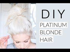 A helpful DIY guide to getting that platinum blonde hair colour you've alway. A helpful DIY gu Platnium Blonde Hair, Platinum Blonde Hair Color, Silver Blonde Hair, Bleach Blonde Hair, Icy Blonde, Blonde Color, Hair Colour, Diy Bleach Hair, Brassy Blonde