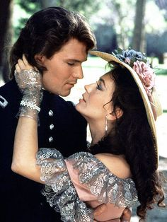 North and south (1985) - Lesley-Anne Down e Patrick Swayze sono Madeline Fabray LaMotte e Orry Main