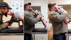 Filhote de pit bull não se controla de alegria ao reencontrar homem que o resgatou