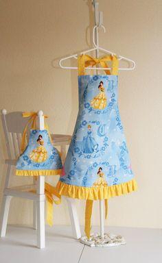 Disney Princess Belle Apron Set for Child and Doll