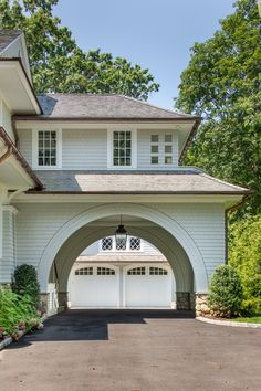 Portfolio — Mockler Taylor Architects, LLC Porte Cochere with Detatched Garage Beyond Carriage House Garage, Garage House, House Front, My House, Garage Doors, Porte Cochere, Style At Home, Residential Architecture, Farmhouse Architecture