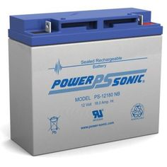 Power Sonic 12-Volt 18 Ah Nut and Bolt Terminal Sealed Lead Acid (SLA) Rechargeable Battery. Alarm Companies, Off Grid Batteries, Fire Alarm System, Security Surveillance, Lead Acid Battery, Seal, Ps, Starters, Top Rated