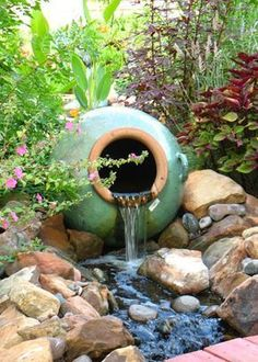 Do you need inspiration to make some DIY Backyard Ponds and Water Garden Landscaping Ideas in your Home? Water garden landscaping is a type of yard design which helps one to capture the essence of nature. It is a… Continue Reading → Backyard Water Fountains, Backyard Water Feature, Garden Fountains, Ponds Backyard, Garden Ponds, Backyard Ideas, Backyard Waterfalls, Outdoor Fountains, Koi Ponds