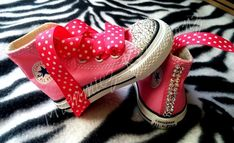 Pink Swarovski converse, Pink chuck taylor, Custom Minnie converse | Mommiez_Kreationz - Clothing on ArtFire