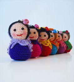 Mini Amigurumi Matryoshka Dolls.