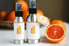Orange Creamsicle Room Spray! An easy DIY Gift Idea with Essential Oils. LivingLocurto.com