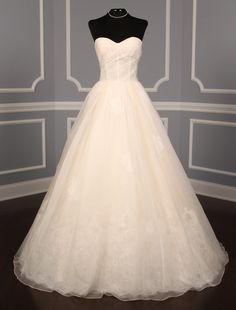 100% Authentic Anne Barge AB823 wedding dress at up to 90% off. You will love the soft blush color of this gown. It is so sweet & pretty! No Risk Returns