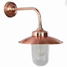 Buitenlamp stallamp koper haaks Arnhem Tuinextra buitenverlichting in webshop en showroom