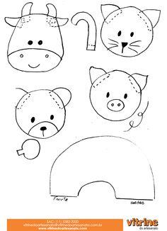 Felt board animals**patterns