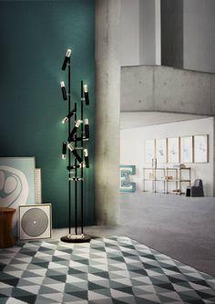Sommer 2016 - Grafische Muster zur Haus Dekoration | Delightfull Beleuchtung ist immer ein Trend! Ike Stehlamp | #luxusmoebel #luxus #innenarchitektur #inneneinrichtung #bestdesign #kabinett | http://wohn-designtrend.de/sommer-2016-grafische-muster-zur-haus-dekoration/