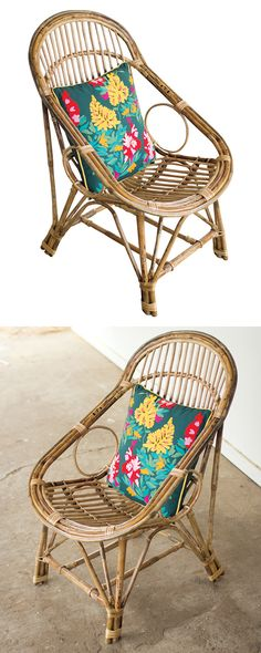 Just a glimpse of this Socorro Chair brings about a sudden need to kick back and relax. Don't hesitate: this one is as comfy as it is versatile and great-looking. Woven bamboo is a timeless material, a...  Find the Socorro Chair, as seen in the Bohemian Summer Solstice Collection at http://dotandbo.com/collections/bohemian-summer-solstice?utm_source=pinterest&utm_medium=organic&db_sku=120719