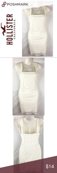 "Hollister White Lace Bandage Dress Size Medium Hollister Junior Womens White Lace Bandage Dress Size Medium   Measurements-  Bust: 31""  Waist: 31""  Length: 33.5""    Customer service is my #1 priority! I strive to not only meet, but to exceed the standard. If for any reason you are unhappy with your order, I will make it right!    Thank you for choosing small business! ❤️ Hollister Dresses Mini"