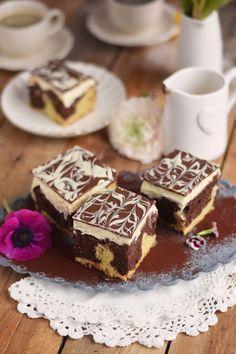 Donauwelle - Chocolate Vanilla Cake with Cherries   Das Knusperstübchen