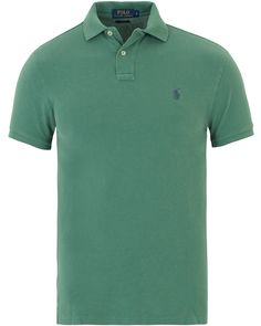 Polo Ralph Lauren Slim Fit Polo Antique Green i gruppen Realisation / Rea Piké hos Care of Carl (13624311r)