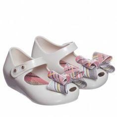 Mini Melissa Girls Beige Vivienne Westwood Jelly Shoes at Childrensalon.com