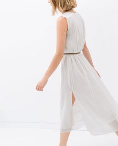 Image 4 of LONG DRESS WITH BELT from Zara