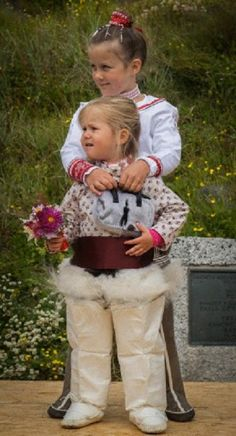 Denmark's Princess Isabella and Princess Josephine during official visit to Greenland, with their parents on Aug. 8, 2014, with the Royal Yacht Dannebrog.