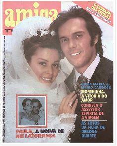 REVISTA AMIGA - 1976 - foto da capa NIVEA MARIA e MARIO CARDOSO - atores do elenco da novela A MORENINHA -