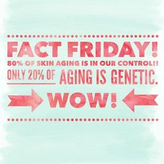 Only 20% of aging is genetic, that means you can impact 80% of the aging process! With the right products, you can keep your skin looking young! Use the Solution Tool to get a personalized recommendation on which products are right for you!