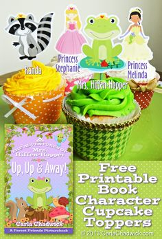 Party Planning Center: Free Printable Frog and Princess Cupcake Toppers