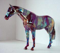 Raku Porcelain Ceramic Model Horse Sculpture one of a kind Napoli. $170.00, via Etsy.