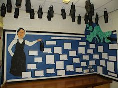 Florence Nightingale display - I love the hanging lamps and the way the display turns a corner. Year 2 Classroom, Ks1 Classroom, Primary History, Teaching History, Class Displays, Classroom Displays, Primary Teaching, Primary School, Florence Nightingale Lamp