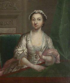 Arthur Devis (British, 1712–1787) - Elizabeth Faulkner, Wife of Arthur Devis, c.1742. Harris Museum & Art Gallery