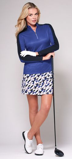 Royal Playoff Tail Ladies Golf Outfit regal ultramarine hue! #golf #ootd #lorisgolfshoppe