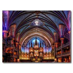 Postcard Notre-Dame Basilica in Montreal Carte Postale