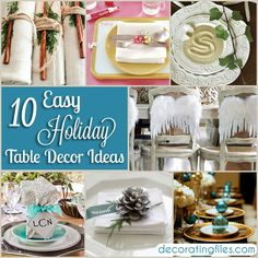 10 Easy Holiday Table Decor Ideas | Decorating Files | #christmas #holidays #holidaytabledecor