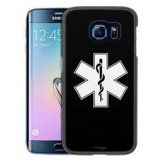 Samsung Galaxy S6 Edge Silhouette Star of Life on Black Slim Case