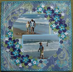 Love these colors together and the beach layout